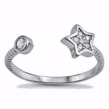 USA Seller Star Toe Ring Sterling Silver 925 CZ Best Price Jewelry Gift