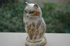 """Royal Crown Derby Paperweight """"FIFI"""" The Cat    New Condition"""