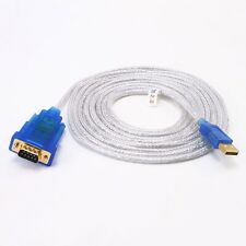 10ft USB to RS232 DB9 Serial Adapter w/ FTDI Chip Converter Cable for Win 10 7 8
