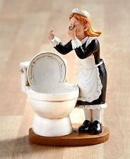 Funny Maid Shaped Toilet Brush Holder Novelty Toilet Shaped Caddy Bath Decor