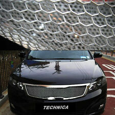 "Aluminum Wire Silver Honeycomb Hex Mesh Grille Diy Kit 19""x35"" For Universal Car"