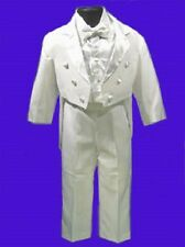 BOYS WHITE TUXEDO w/VEST WEDDING RING BOY BEARER SZ 20