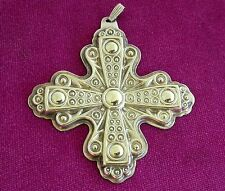 Reed & Barton 1972 Sterling Silver Christmas Cross Ornament   ~ 0185