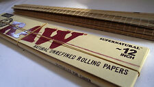 "RAW 12 INCH PAPERS cigarette+12"" BAMBOO ROLLING MAT/ skins rizla smokers GIANT"