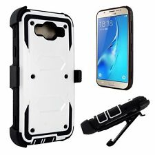 For Samsung Galaxy - Rugged Hybrid Phone Case w/ Built-in Screen & Clip Holster