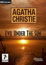 AGATHA CHRISTIE EVIL UNDER THE SUN for PC DVD SEALED NEW