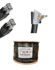 300'FT CAT5'e Outdoor Water'Proof Ethernet Cable Direct Burial Internet Patch