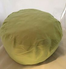 Small Pouf Pillow Bean Bag Cover Lime Green pouff photography prop posing photo