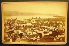 Photo c1900 Suisse Lucerne et le Righi Schweiz Photographie ancienne 16cm