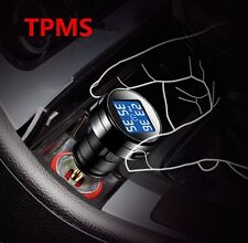Auto Car Cigarette Lighter TPMS Tire Pressure Monitor System 4 External Sensors