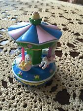 Vintage 1997 Trendmasters Inc Wind Up Carousel Merry Go Round GUC