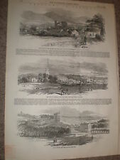 Sketches in Ireland Ardfinan and Tipperary 1848 old prints