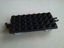LEGO Duplo Anhänger Unterteil 4x8 32er schwarz Eisenbahn Waggon Unterbau