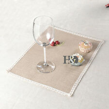1pcs Linen Insulation Kitchen Placemats Striped Place Pad Dining Table Mat