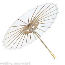 Willow Tree Wedding Bamboo Paper Parasol White AUS SELLER