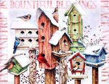 "Dimensions Counted Cross Stitch Kit 14"" x 11"" ~ WINTER HOUSING Sale #70-08863"