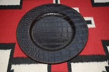 Ralph Lauren Home Faux Alligator Print Leather Charger Tray