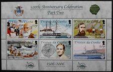 500th aniversario del descubrimiento de Tristán da Cunha, parte dos Sello Hoja, estampillada sin montar o nunca montada