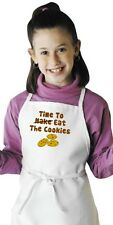 Children's Apron For Kids Time To Eat The Cookies Child Cooking Aprons