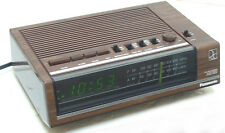 vintage Panasonic RC 6050 Alarm Clock Green LED  AM, FM Radio Perfect Classic