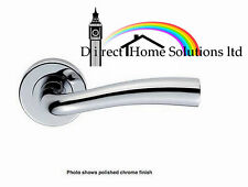 DESIGNER MODERN SPRUNG LEVER DOOR HANDLES HIGH QUALITY - SATIN CHROME FINISH