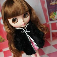 "For 12"" Neo Blythe doll Takara doll Black Lady wool coat jacket Clothes"