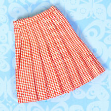 Vintage Skipper Doll Clothes School Girl Red Checked Pleated Skirt 1965 EXCLNT