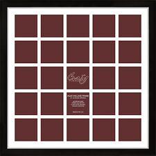 Craig Frames 1WB3BK 22x22 Black Frame, White Mat, 25 Openings for 4x4 Instagram