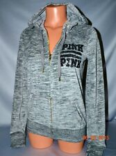 Victorias Secret Pink Graphic Marled Sequins Bling Velour Hoodie NWT XS
