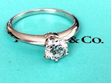 TIFFANY & Co PLATINUM DIAMOND ENGAGEMENT RING .79 CT G VVS2 3 EX $9600 RETAIL