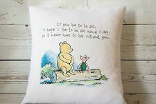 "If you live to be 100 (C)- 16"" cushion cover Vintage Winnie The Pooh Nursery"