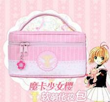 Big Card Captor Sakura Kinomoto Wing Portable Cosmetic Bag Hand Original PU
