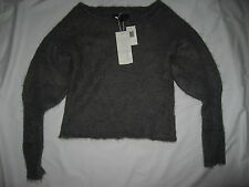 New HANII Y Bloomingdale's Gray Warm Wool Moon Light Korea Sweater sz MEDIUM M