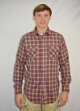 Vintage Men's Long Sleeve Plaid Button Shirt by Campus Rugged Country Size M