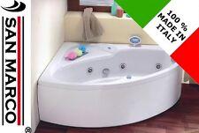 Vasca da bagno ad angolo idromassaggio angolare 150x100 cm asimmetrica