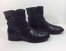 "BORN ""McMillan"" Women's Size 9 M Black Leather Ankle Boots"