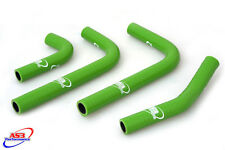 KAWASAKI KXF KX-F 250 2017 HIGH PERFORMANCE SILICONE RADIATOR HOSES GREEN