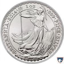 2014 1 oz Horse Privy British Silver Britannia Coin (BU) - SKU 0175