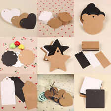 New Blank Brown Kraft Paper Hang Tags Wedding Party Favor Label Price Gift Cards
