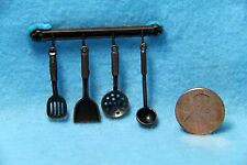 Dollhouse Miniature Hanging Utensils Antique Iron ~ G7026