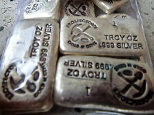 Prospector Gold & Gems Very Rare 1oz .999 Silver hand poured bullion bar low pop