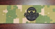 NAVY,USMC/USN COMBATANT DIVER,BADGE,CLOTH,SPECIAL WARFARE NWU TYPE II GREEN