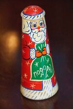 RUSSIAN NESTING DOLL CHRISTMAS SANTA CLAUS PAINTED TREE VINTAGE NOGA PRU.