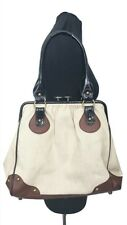 DUNE Handbag Size L Beige & Brown Designer Tote Shoulder 12in x 13in x 4in