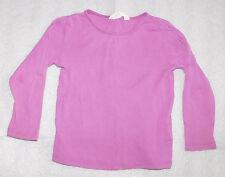 H&M Toddler Girls Purple Organic Cotton Long-Sleeve Top - Size 1-2 (Eur 86-92)