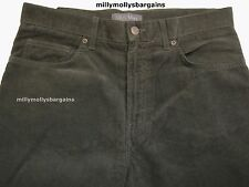 New Mens Marks & Spencer Green Cord Trousers Waist 32 Leg 32 LABEL FAULT