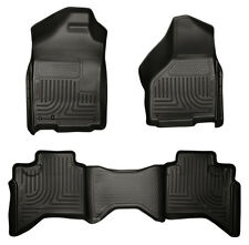 2009-2013 Ford F-150 Super Crew Cab Floor Mats Husky Liners WeatherBEATER BLACK!