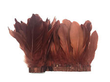 1 YARD - BROWN Goose Nagoire and Satinettes Feather Trim