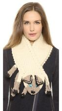 Eugenia Kim Kitty Scarf 100% Wool Cream Oatmeal Color One Size