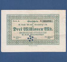 GEVELSBERG W. Krefft AG 3 Millionen Mark 1923 III / VF